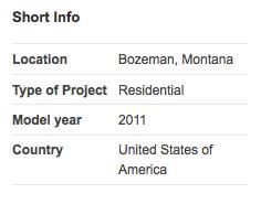 Short Info Montana EcoHouse