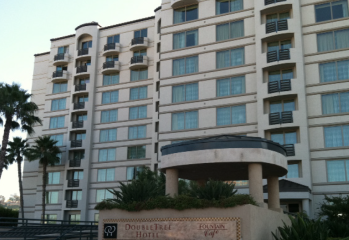 Doubletree Hilton in San Diego Windows
